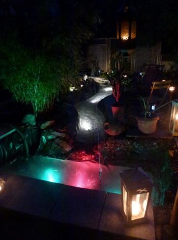 unterwasser beleuchtung und strahler im teich. Black Bedroom Furniture Sets. Home Design Ideas